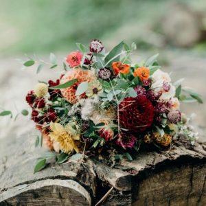 Natural Autumnal Wedding